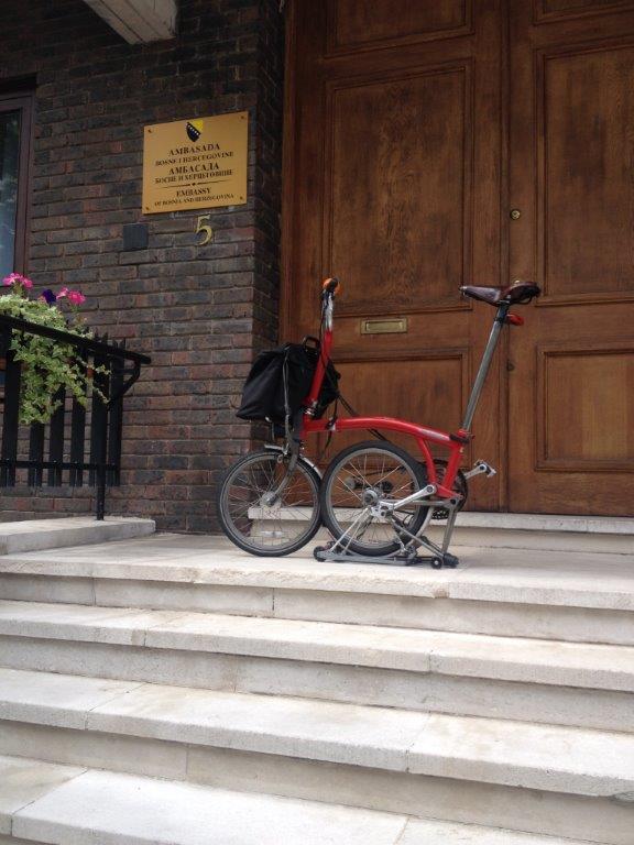 Bike outside Bosnian Embassy