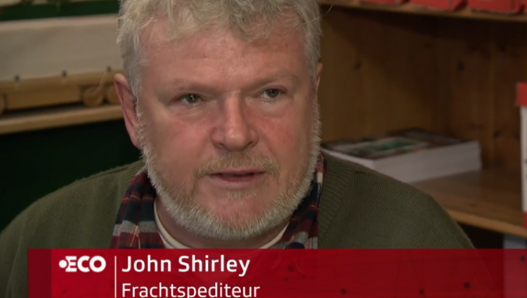Swiss News Channel 'SRF' Interview John RE the Hard border