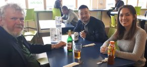 """John Shirley has lunch with """"Nikkei"""" the Japanese equivalent of the Financial Times"""